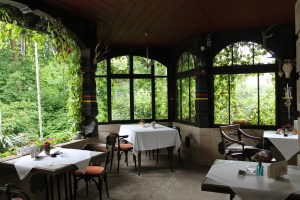 "Historical restaurant ""Henneberger Haus"", balcony (c) kheymach"
