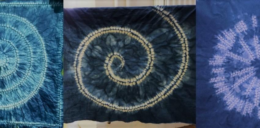 3 magic shibori circles to shape in sophisticated tie dye