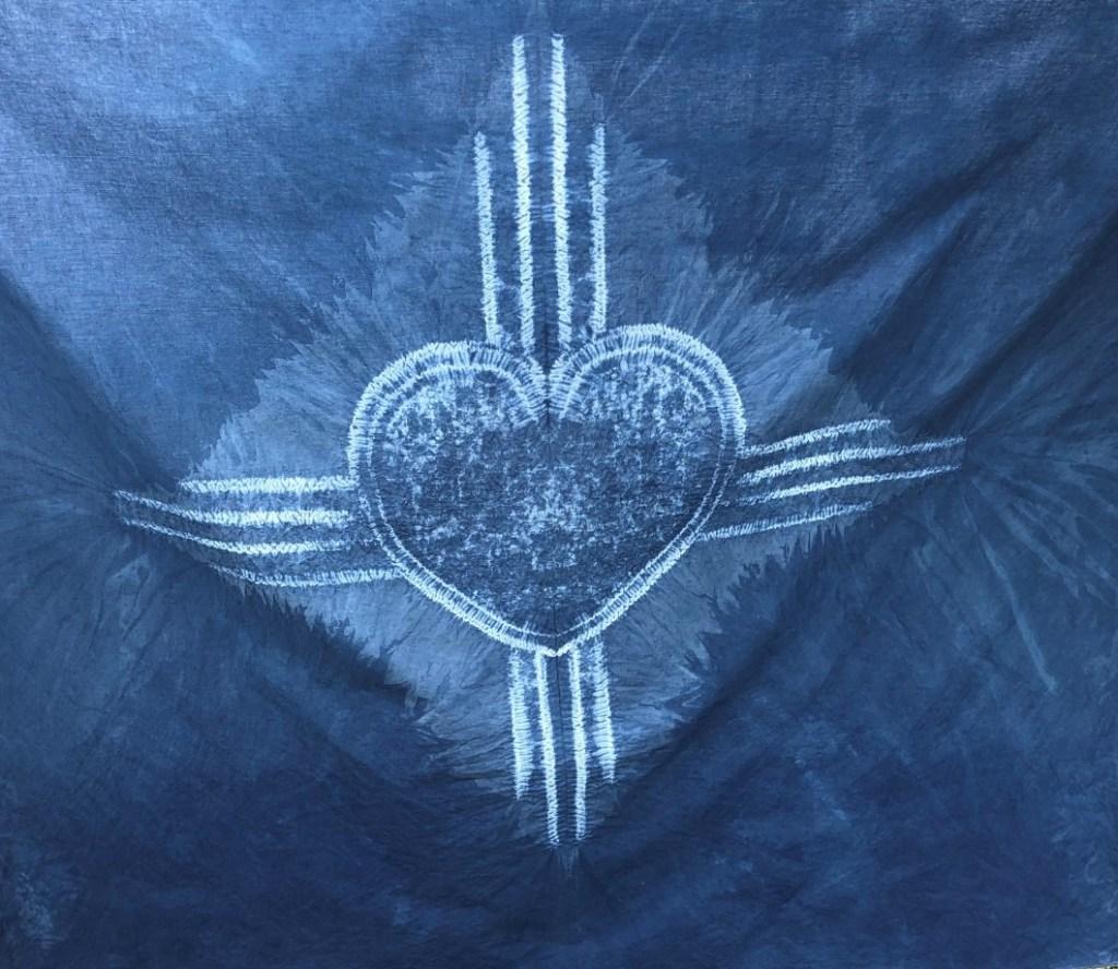 shibori zia heart symbol