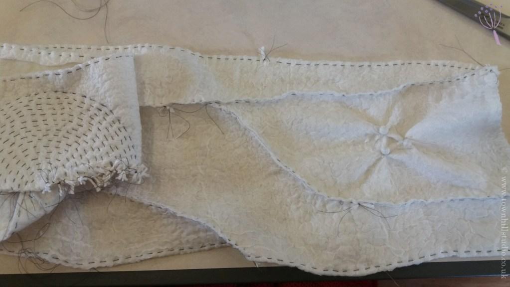 Ali's scarf shibori on nuno felt (1)