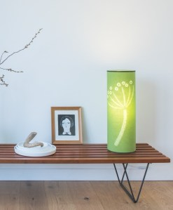 Grass green hogweed lamp