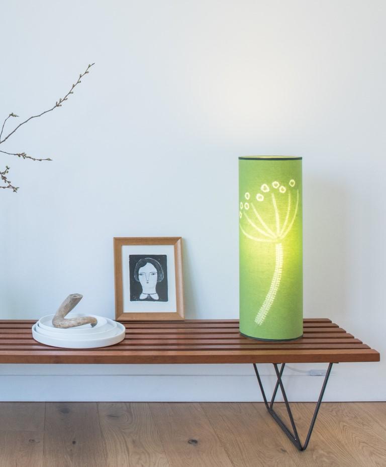 Grass green hogweed lamp