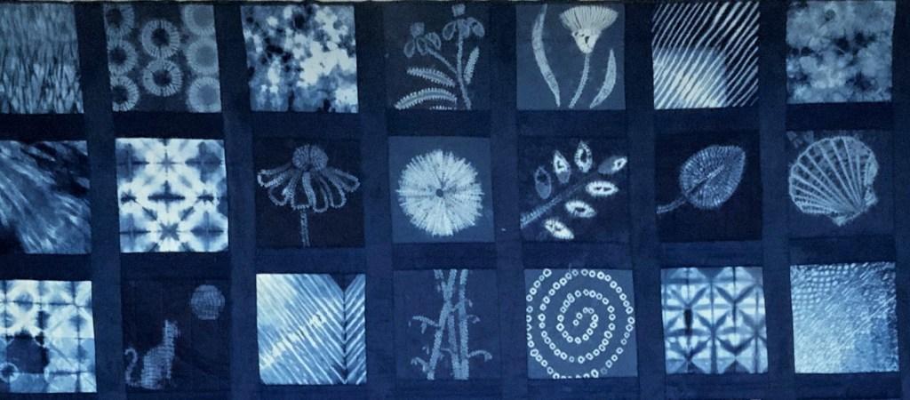 Detail of shibori quilt