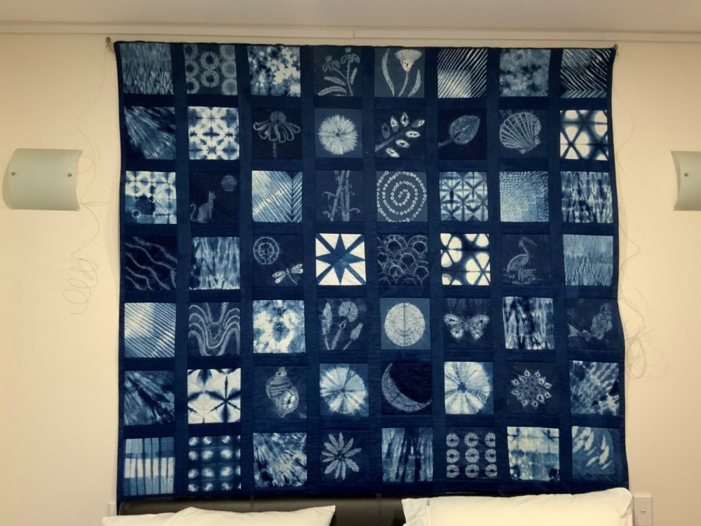 Showing the whole quilt