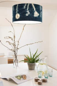 Seed head drum lampshade