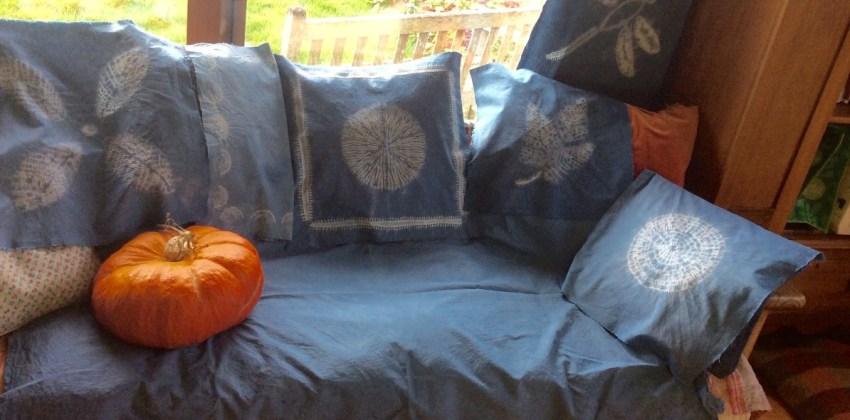 Shibori cushions Patsy