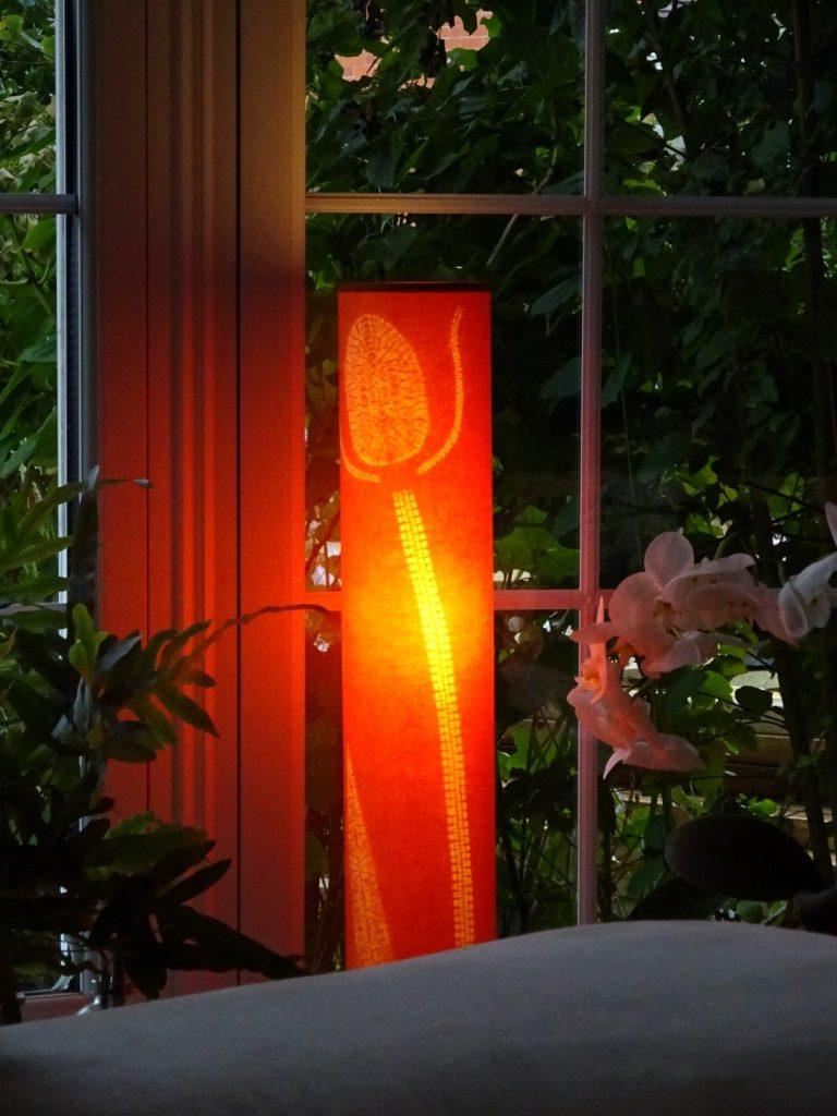 Tall teasel lamp 75 x 12.5 cms