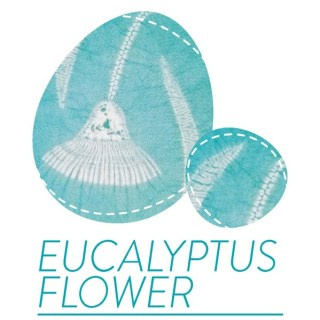 shibori pattern for eucalyptus flower cover