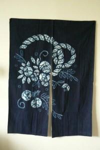 Vintage shibori noren