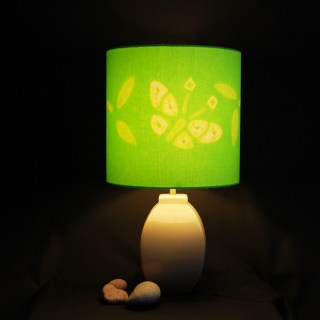 Butterfly lime green lampshade 1