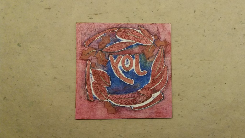 collagraph plate after printing