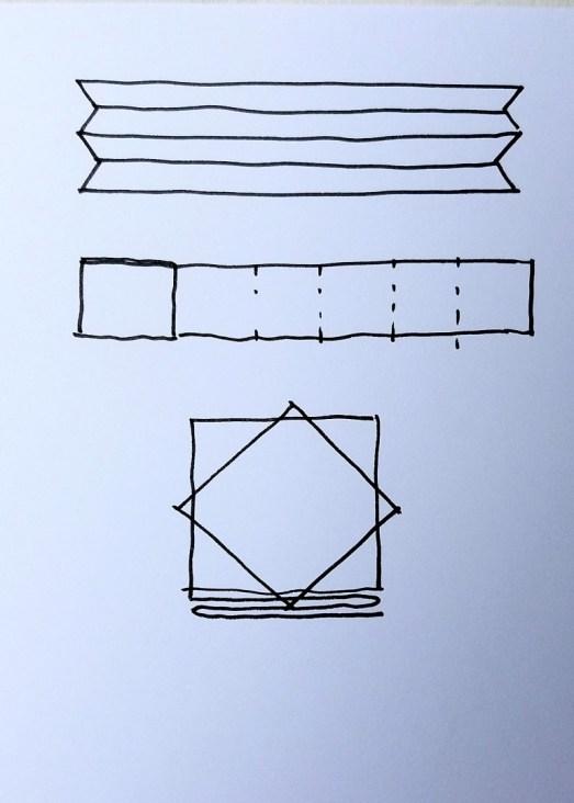 diagram of itajime folding 4