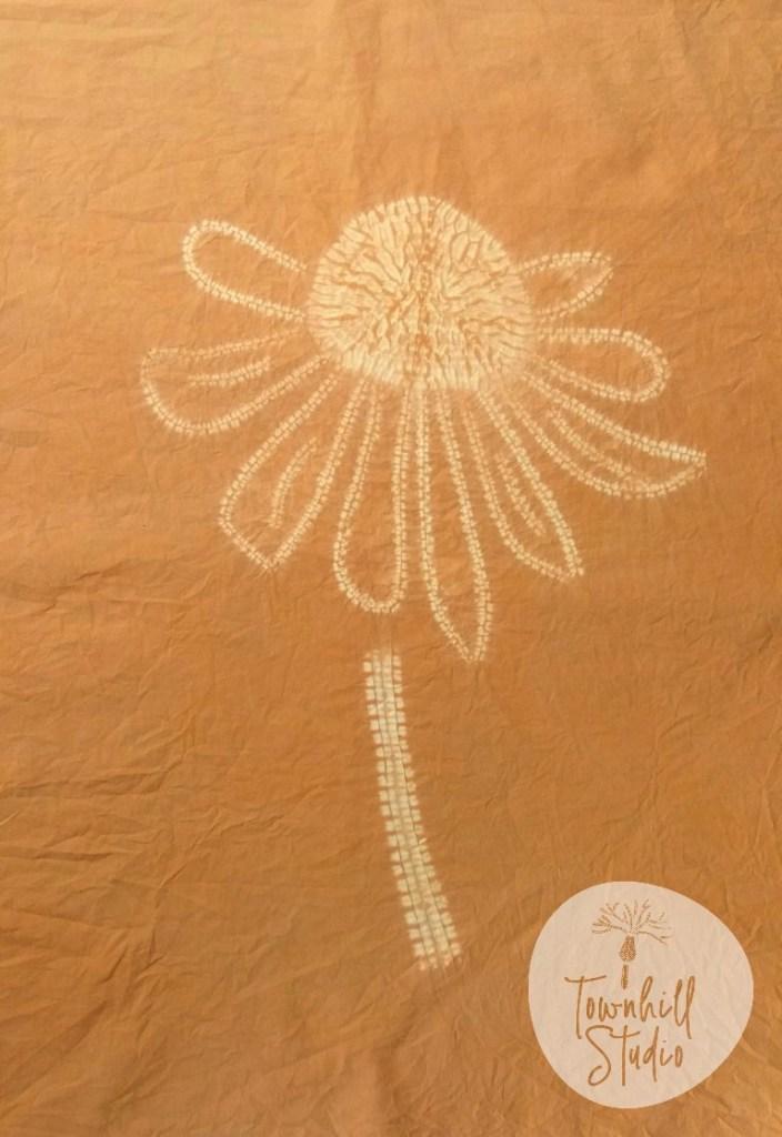 shibori echinacea flower