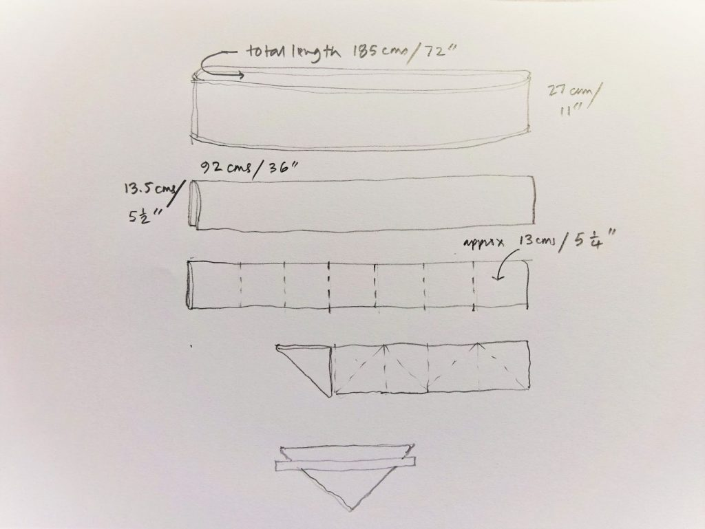 how to fold and clamp a shibori design