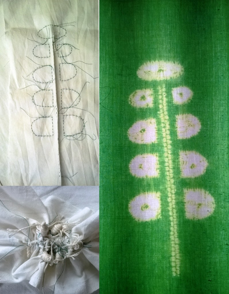 Creating with Maki-Age Stitch Resist Shibori