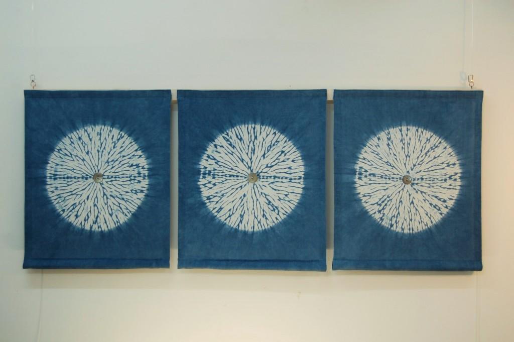 indigo circles karamatsu shibori