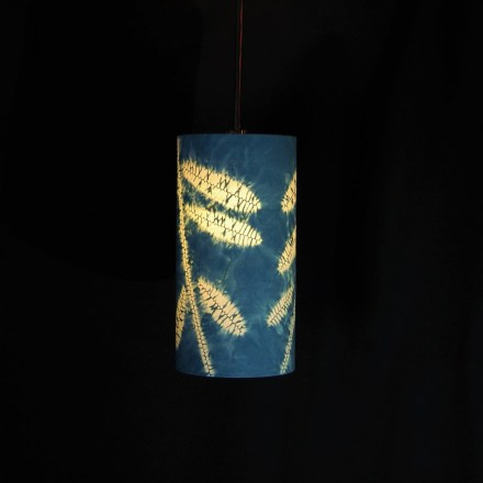 pendant indigo leaves 3
