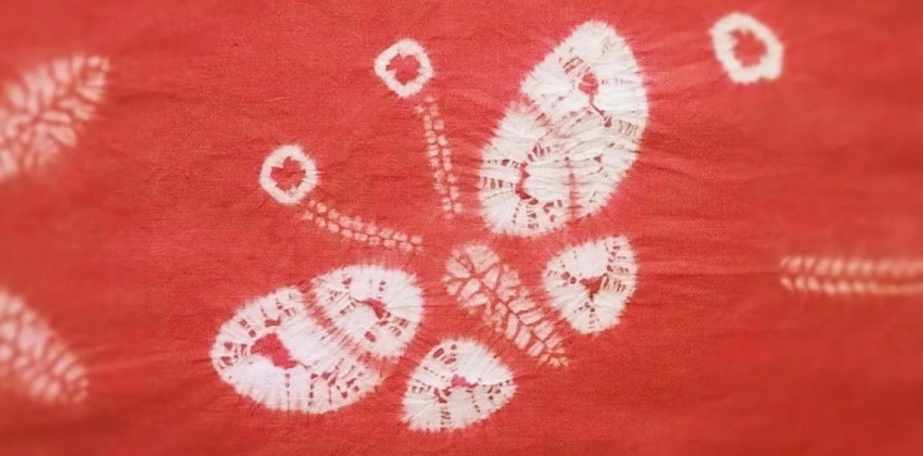 How to make a beautiful butterfly in shibori in 4 steps
