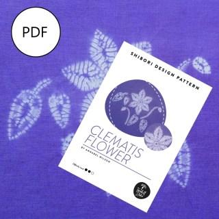 clematis shibori PDF pattern