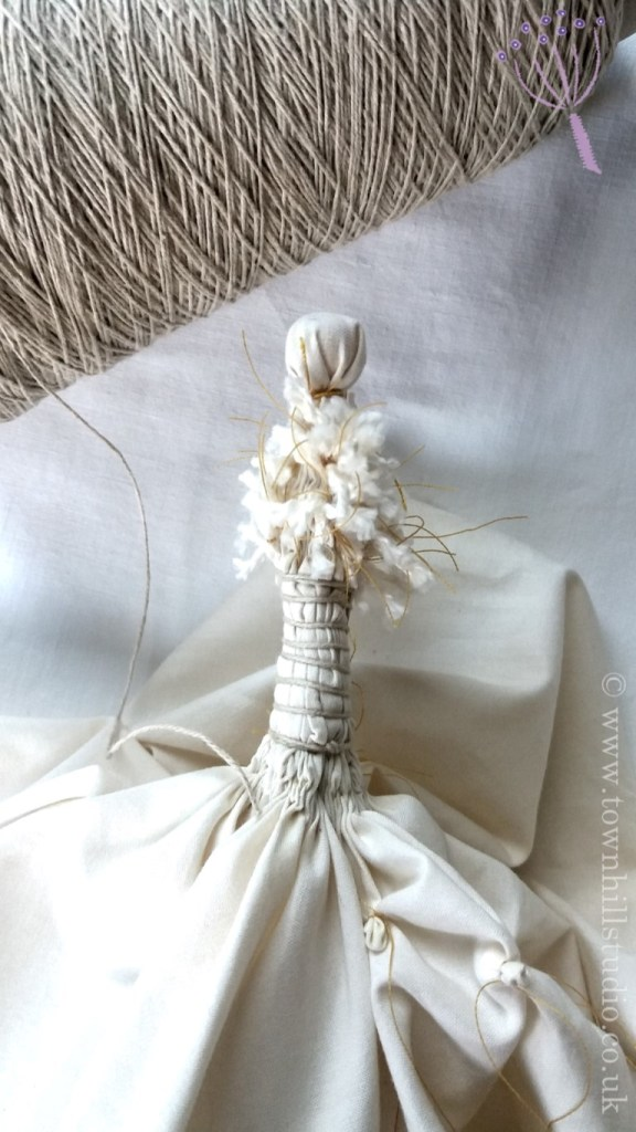 shibori dandelion completed binding