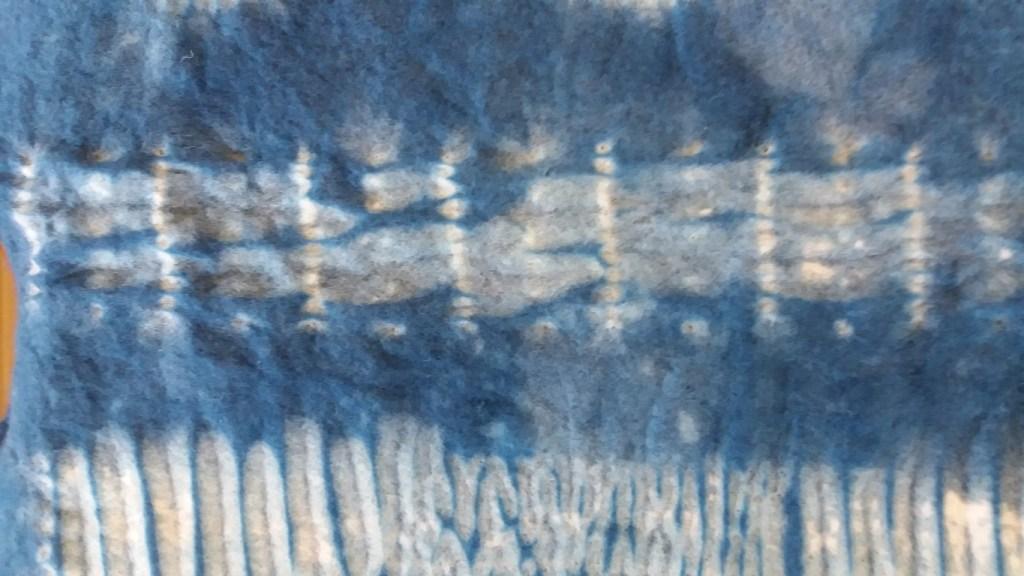 varied stitch length stitching on nuno felt