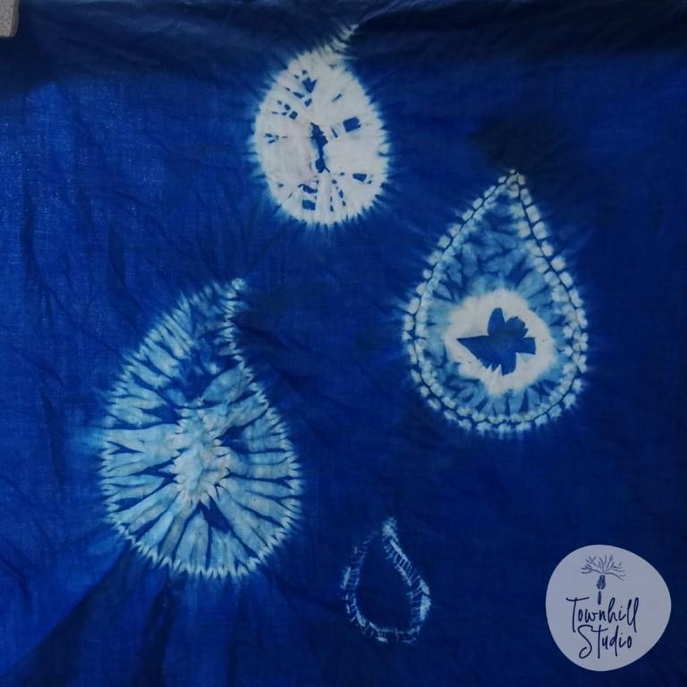 shibori paisley patterned cloth