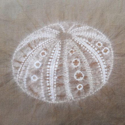 completed and dyed shibori sea urchin