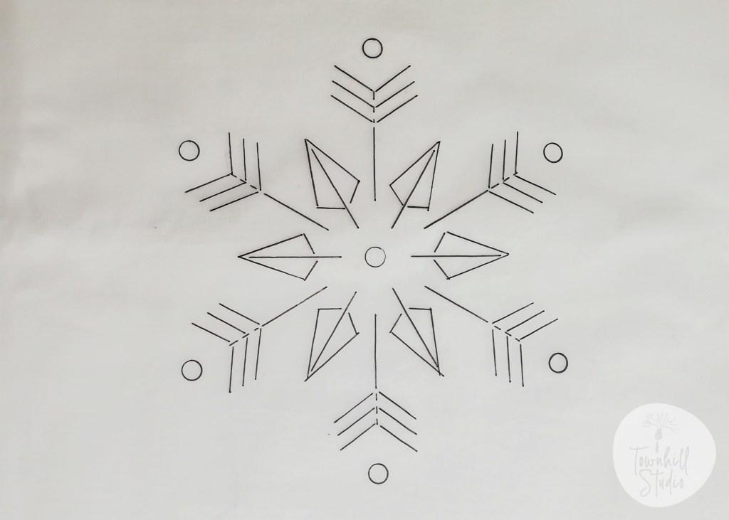 snowflake pattern for shibori snowflake
