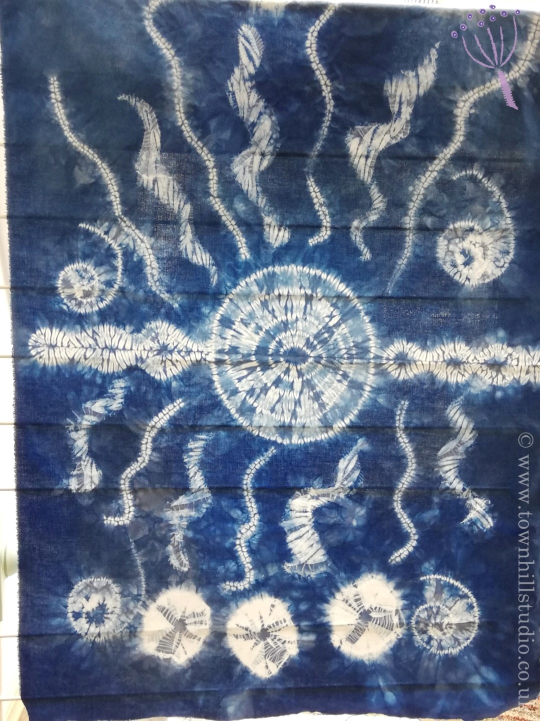 shibori stitch resist pattern