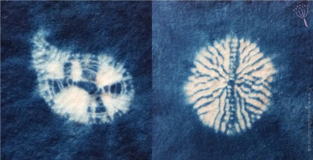 shibori stitches on felt