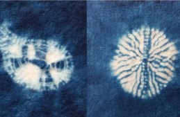 Be inspired to explore simple shibori stitches on felt