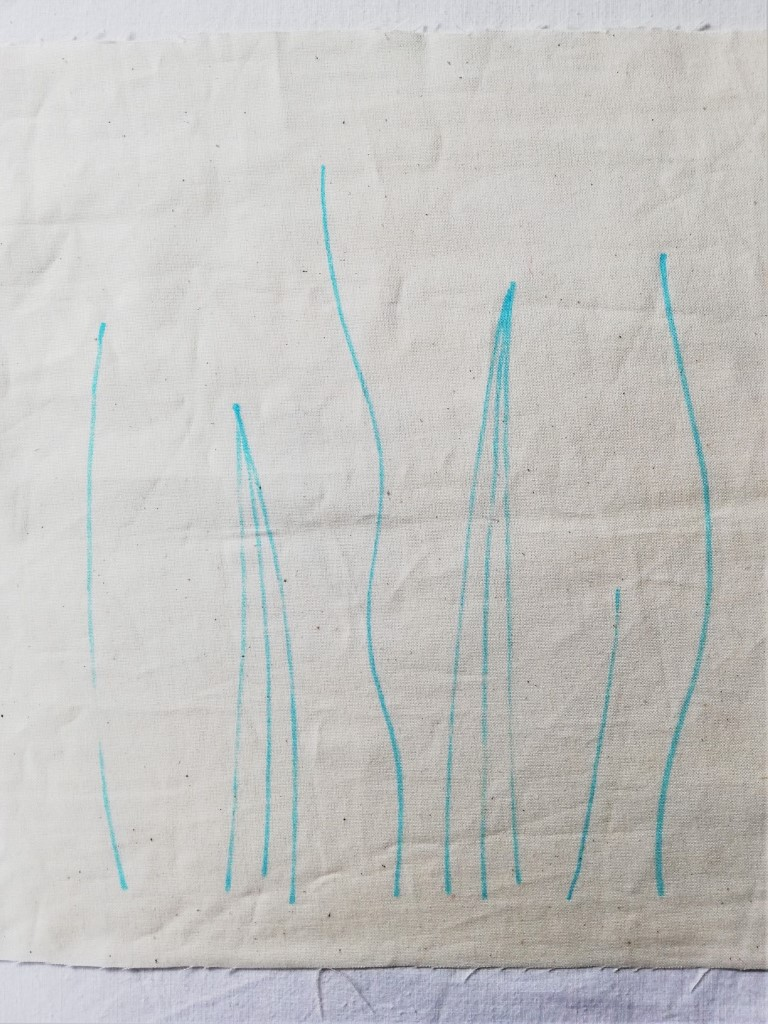 drawing for shibori wavy grasses