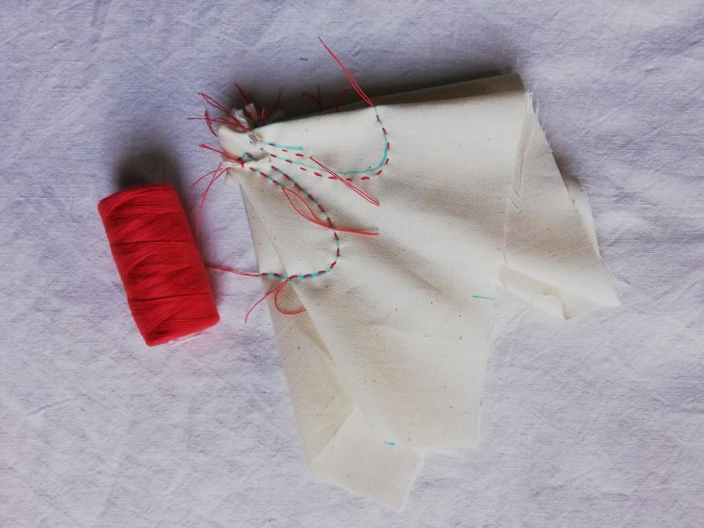 shibori stitching for wild rose