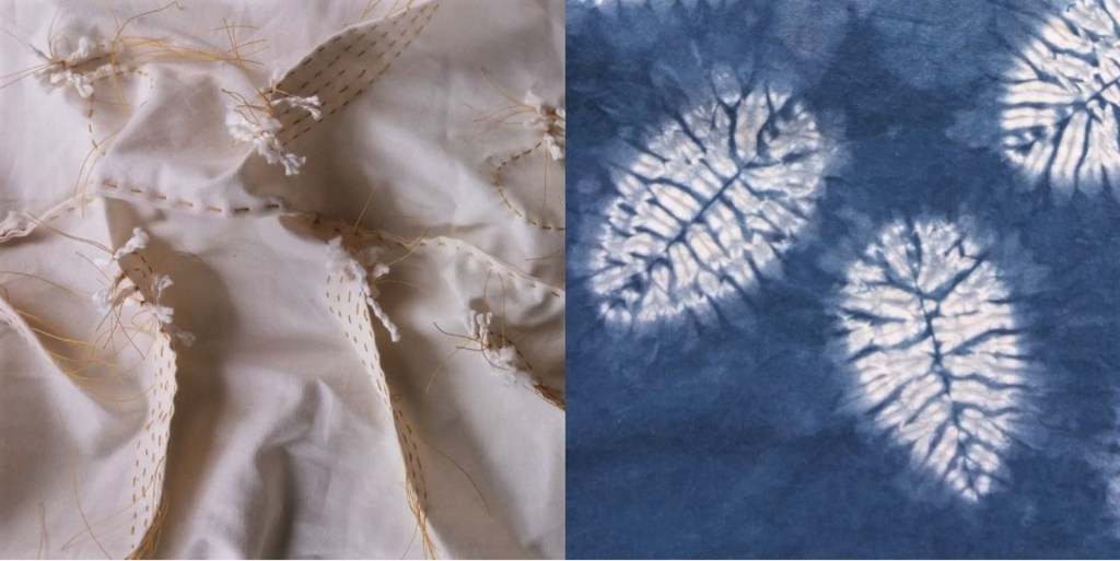 small leaf shibori