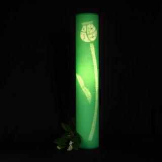 tall bright green poppy head lamp (7)