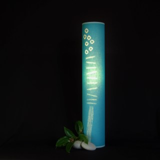 tall grass teal lamp 70cm (2)