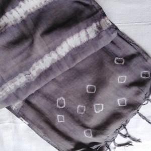a shibori patterned scarf