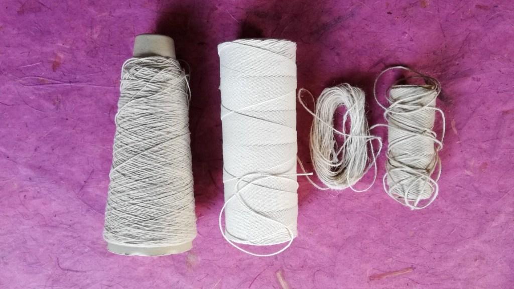 Binding threads for shibori