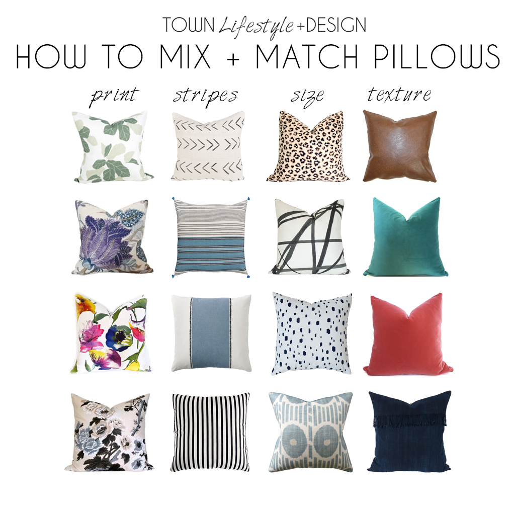How To Mix Match Pillows Town Lifestyle Design