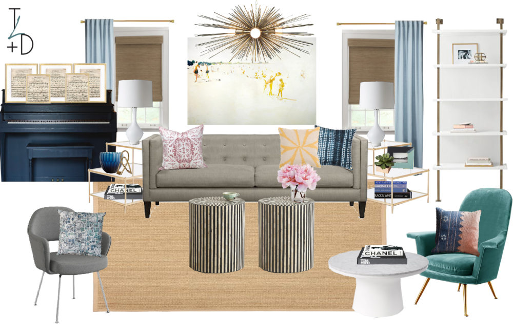 Houston Heights Formal Living Room Concept || Town Lifestyle and Design