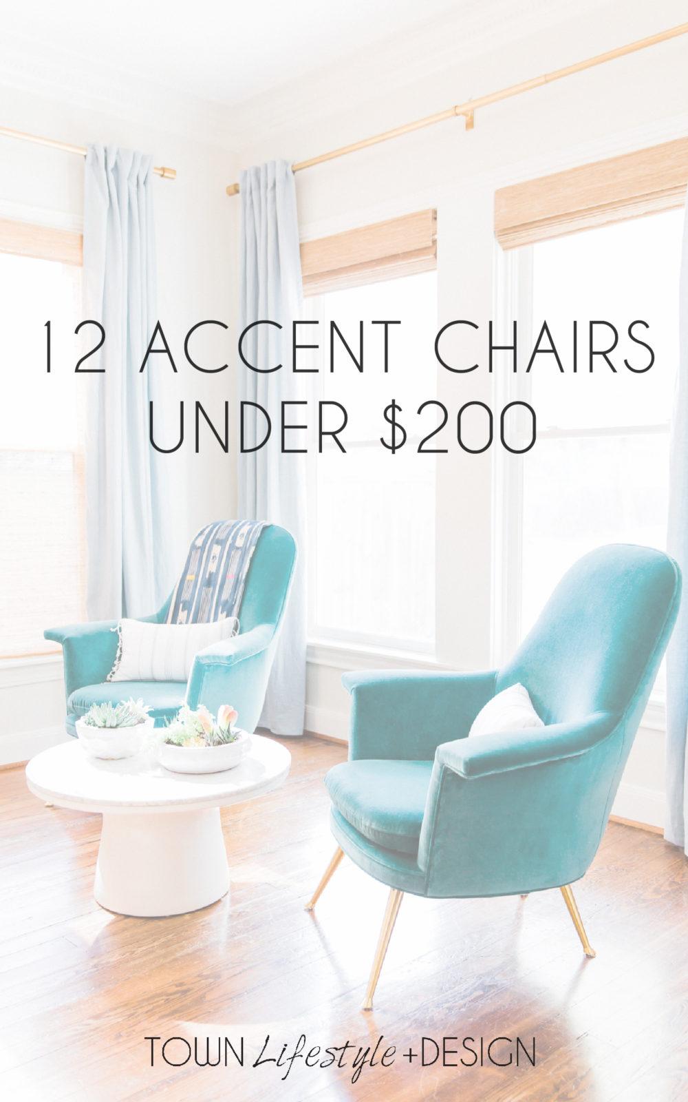 Tremendous 12 Accent Chairs Under 200 Town Lifestyle Design Customarchery Wood Chair Design Ideas Customarcherynet