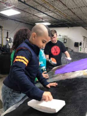 Zach teaching kids 2