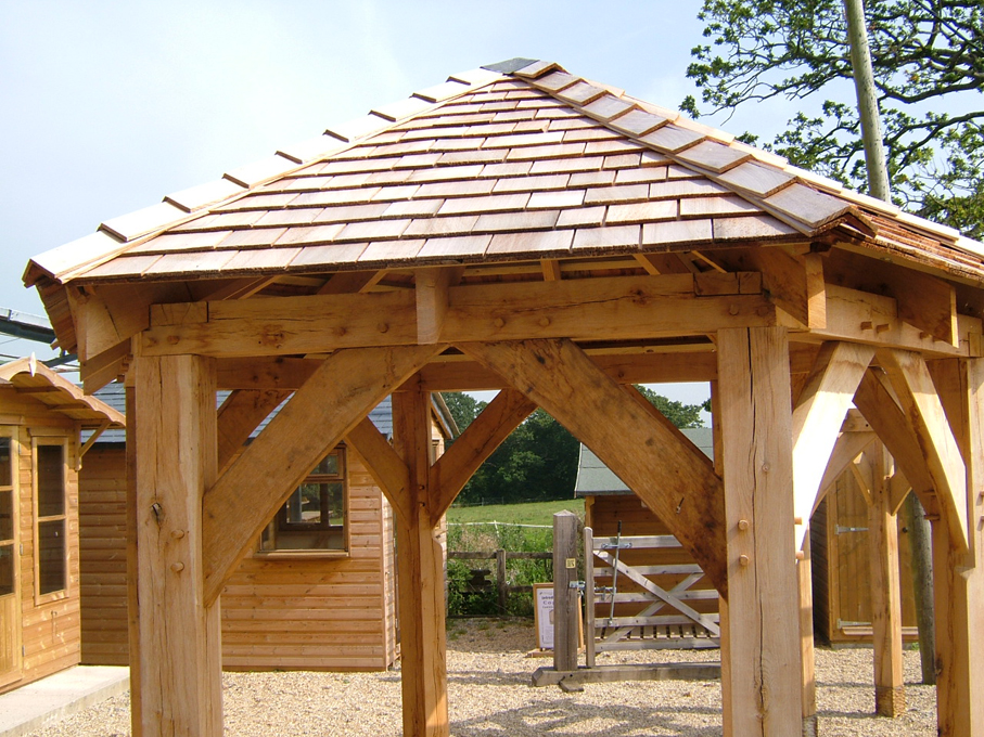 Oak framed porches gazebos  pergolas  Townsend Timber
