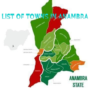 List of Towns in Anambra state