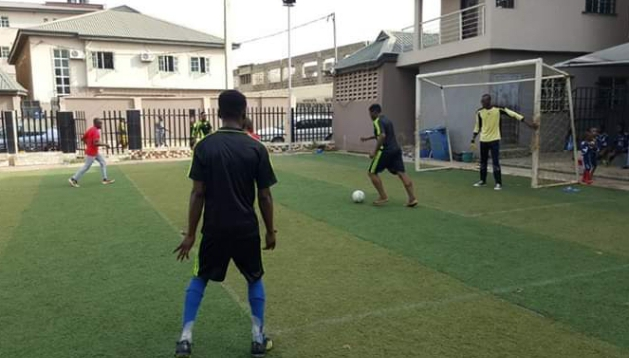Festac football match training