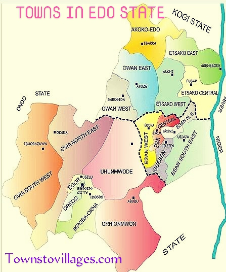 TOWNS IN EDO STATE