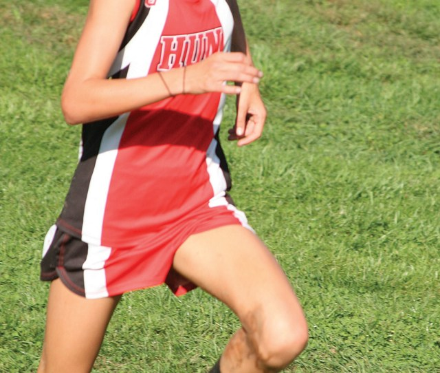 Frontrunner Hun School Cross Country Runner Charlotte Bednar Displays Her Form In A Recent Race Last Friday Freshman Bednar Placed First In The Girls
