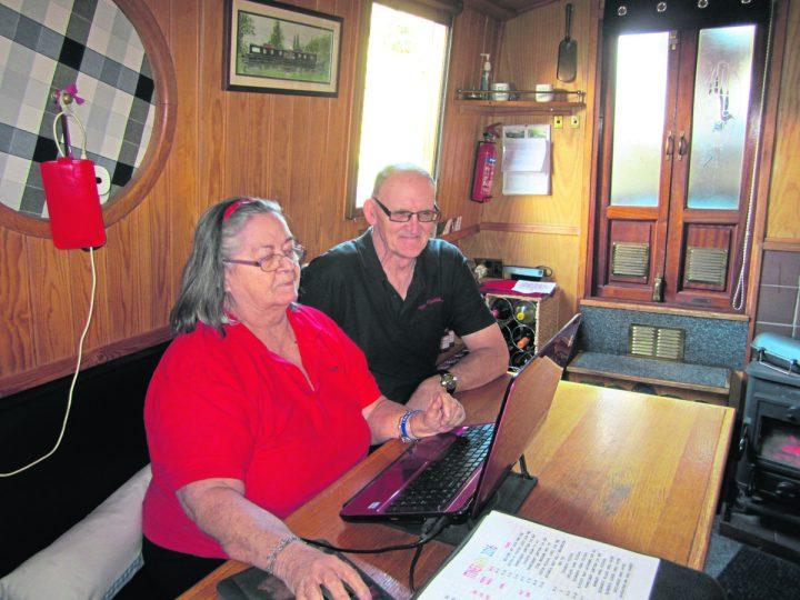 Geraldine & Michael Prescott in 'the office'