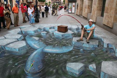 3D Sidewalk Chalk Art 10