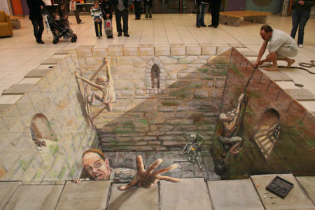 3D Sidewalk Chalk Art 5